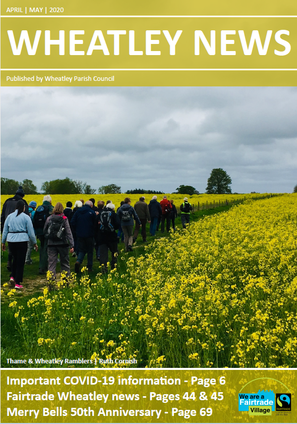 Front cover of Wheatley News April/May 2020